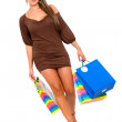 Girl with shopping bags — Stock Photo #7773047