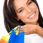 Beautiful girl out shopping — Stock Photo #7773076