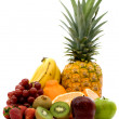 Fruit assortment - isolated — Stock Photo