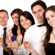 Stock Photo: Group of friends at a party