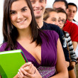Group of casual students — Stock Photo