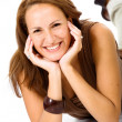 Stock Photo: Casual woman smiling