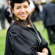 Stock Photo: Female graduating at university