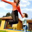 Mother and child having fun — Stock Photo