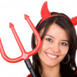 Female Red Devil — Stock Photo
