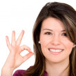 Stock Photo: Girl doing okay sign