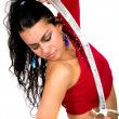 Beautiful arabic dancer - Stock Photo