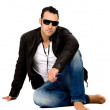 Fashion male on the floor — Stock Photo
