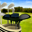 Golf clubs on a course — Stock Photo #7773181