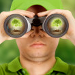 Ecologist searching for protection — Stock Photo