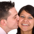 Royalty-Free Stock Photo: Guy kissing his girlfriend