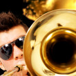 Man playing the saxophone — Stock Photo #7773240