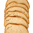 Slices of wholemeal bread - Stock Photo
