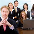 Businessman and his business team — Stock Photo
