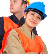 Royalty-Free Stock Photo: Couple of construction workers