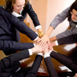 Stock Photo: Business hands of teamwork