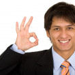 Business man - okay sign — Stock Photo