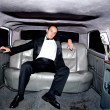 Guy in limousine — Stock Photo #7773319