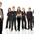 Businessman with business team - Stock Photo