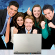 Business success team in an office — Stock Photo #7773395