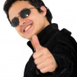 Stock Photo: Positive young man