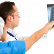 Stock Photo: Doctors checking xray