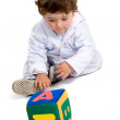 Early learning boy — Stock Photo