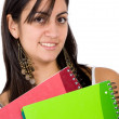 Female student with notebooks — Stockfoto #7773517