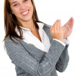 Business woman applauding - Stock Photo