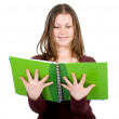 Female student with notebooks — Stock Photo #7773538