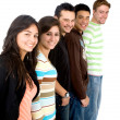 Casual group of casual students smiling — Stock Photo #7773579