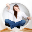 Casual girl portrait at home — Stock Photo #7773594