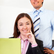 Stock Photo: Business partners at office