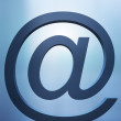 Email sign - Stockfoto