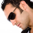 fashion male portrait - sunglasses — Stock Photo