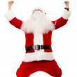 Father christmas celebrating — Stock Photo