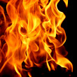 Abstract fire on black - Stock Photo