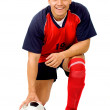 Professional footballer - Foto Stock