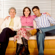 Hispanic family portrait - Stock Photo