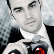 Stock Photo: Business search - confident man