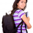 Stock Photo: Back to school girl