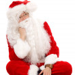 Santa looking pensive — Stock Photo