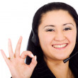 Customer service girl - okay sign — Stock Photo #7773915