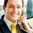 Stock Photo: Business man on the phone