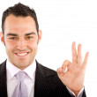 Business man - okay sign - Stock Photo