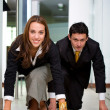 Stock Photo: Business competition