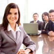 Business team with a businesswoman leading — Stock Photo #7774020
