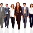 Business team walking forward — Stock Photo #7774075