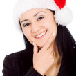 Business female santa — Stock Photo #7774108