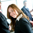 Business woman leading team — Stock Photo